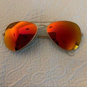 Ray Bans- polarized aviator sunglasses